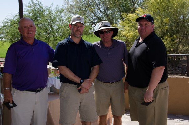 Winning second prize was the team of (L to R) Fred Hoffman, Glenn Livingston, Gary Richardson, and Michael Livingston. Each team member won a $100 gift card to Golf Galaxy/ Dick's Sporting Goods.