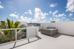 Bamboo Flats Townhomes Flagler Village Fort Lauderdale Roof Top Terrace