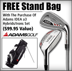 Free Adams Golf Bag with purchase