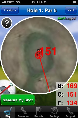 GolfLogix iPhone app - greenview 2