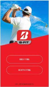 Bridgestone BFit Golf Ball Fitting Home Screen