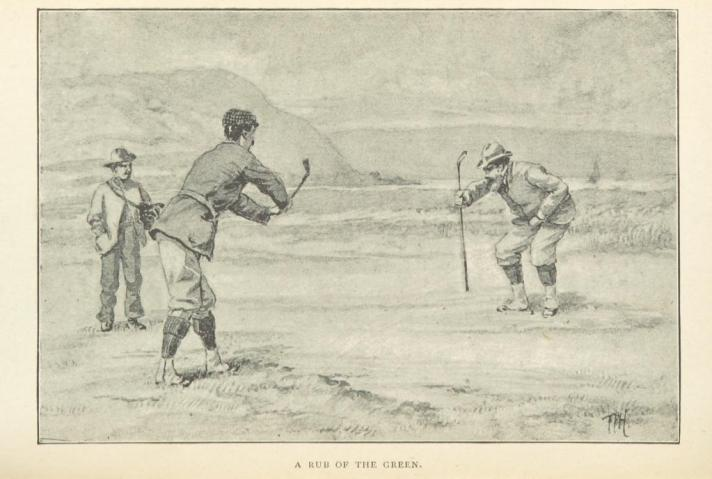 The Golfers Creed - Old Time Golfers Playing
