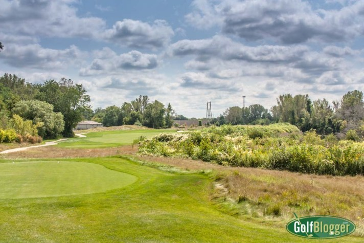 The fifteenth at Harbor Shores is a 549 yard par 5