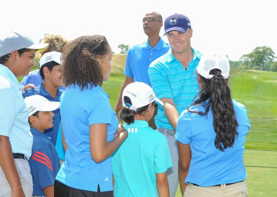 Jordan Spieth appears at First Tee Classic At Liberty National