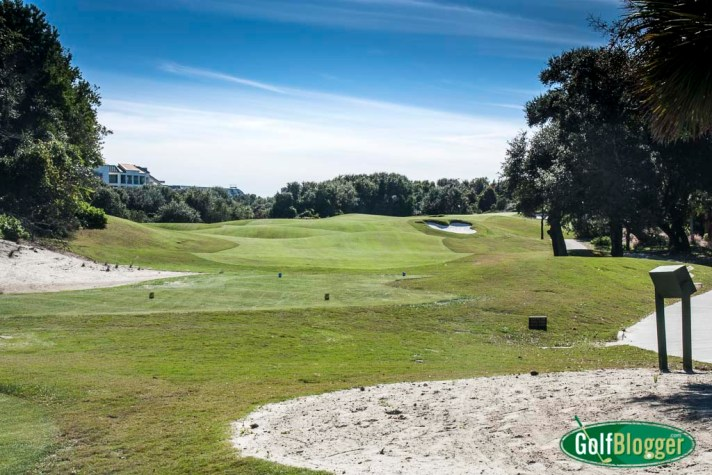 The tenth at the Links at Wild Dunes Resort is a 331 yard par 4