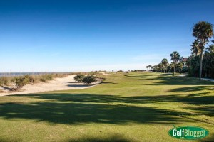 The 17th at the Links at Wild Dunes is a 412 yard par 4
