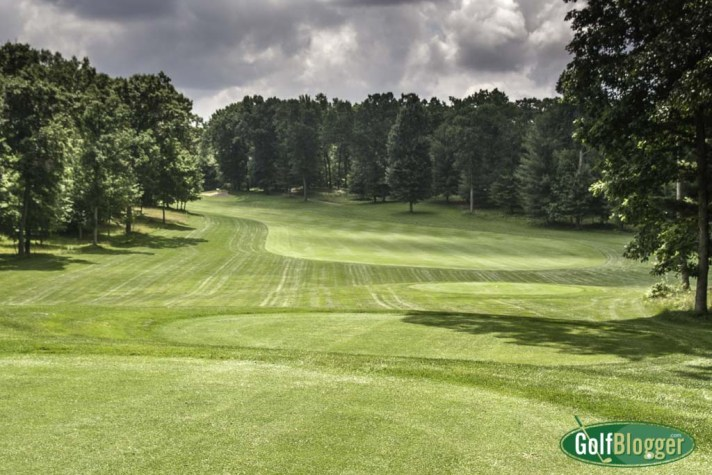 The fifth at Pilgrim's Run is a 429 yard par 4.