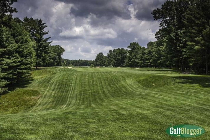 The ninth at Pilgrim's Run is a 372 yard par 4.