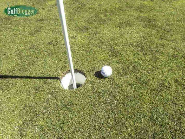Sticking it close with a pitch from 60 yards.