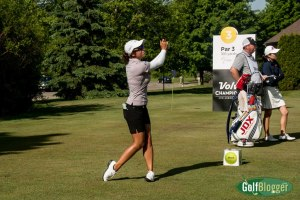 Marina Alex, who is at -9 and tied for second after the second round.