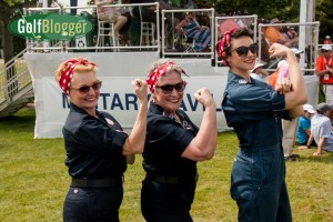 """Rosie The Riveters"" at the ninth hole at the Volvik Championship."