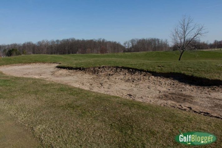 """The """"Bunkers"""" were baked hard clay."""