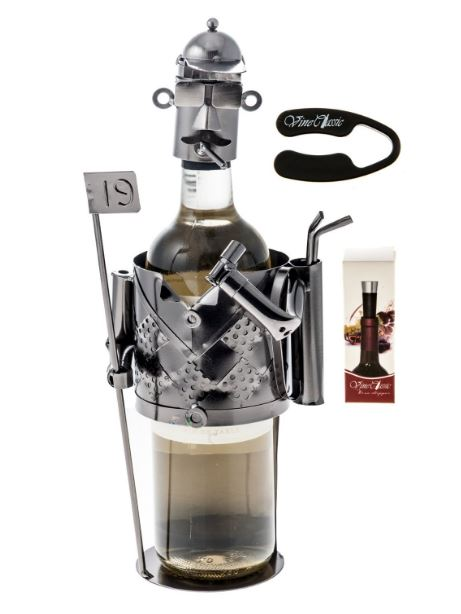 Golf Player Wine Bottle Holder
