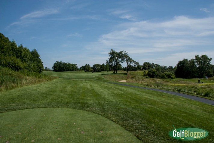 The Blackwolf Run River Course's third is a 468 (389) yard par 4.
