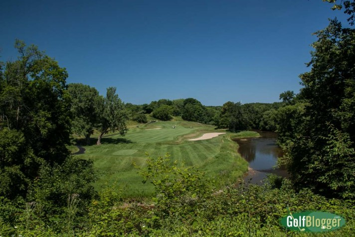The fifth at the Blackwolf Run River Course is a 427 (376) yard par 4.