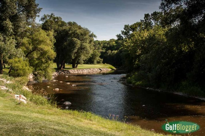 The thirteenth on the Blackwolf Run River Course is a 231 yard par 3 from the tips.