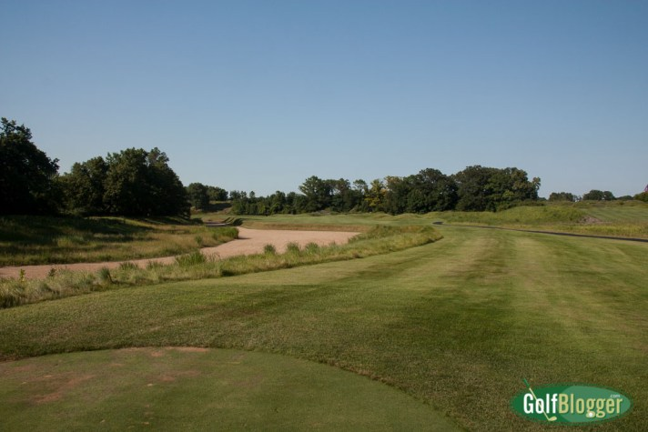 The eighteenth at Blackwolf Run River Course is a 510 (415) yard par 5.