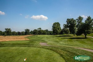 The fourteenth at Oakland Hills South is a 500 yard par 4.