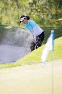 Yu Liu, co-leader after the second round of the Tullymore Classic.