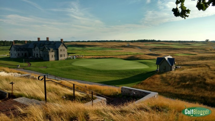 Erin Hills from the porch of the clubhouse