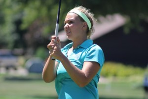 Elayna Bowser, leader after the first round at the 2016 Michigan Women's Amateur