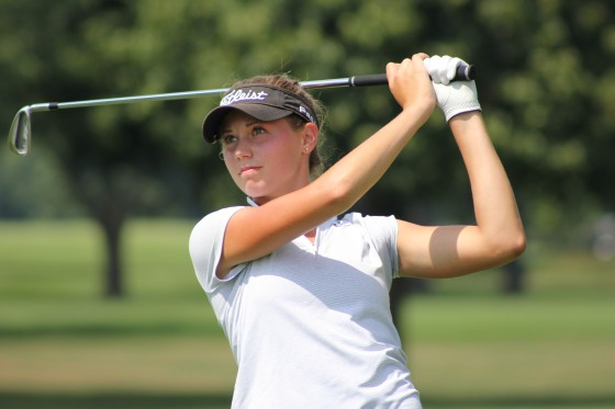 Julia Dean of Brighton, a 17-year-old high school senior who has reached the semifinals.