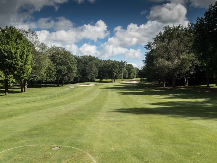A view of The Moor's fifth from the fairway