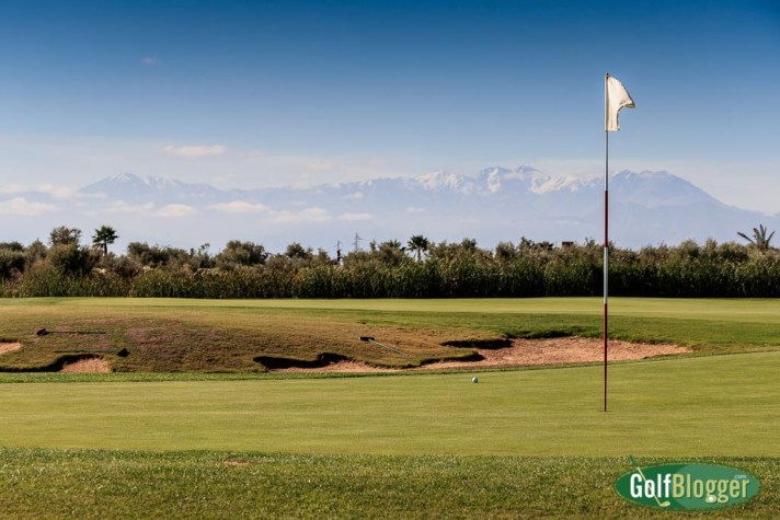 Golf In the shadow of the Atlas Mountains. Near Marrakech, Morocco. Visit Morocco