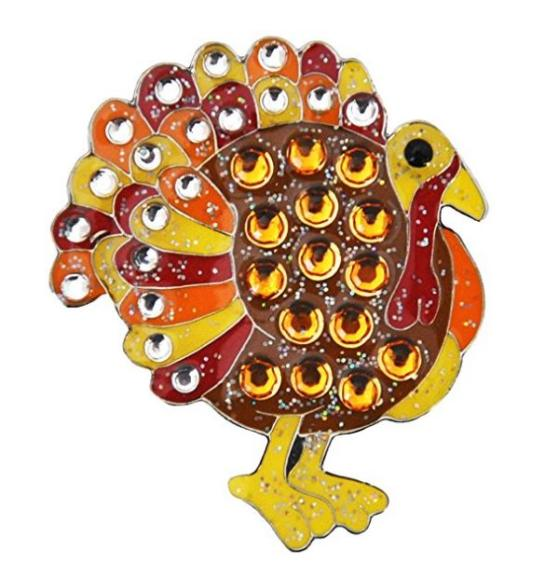 Swarovski Crystal Turkey Ball Marker