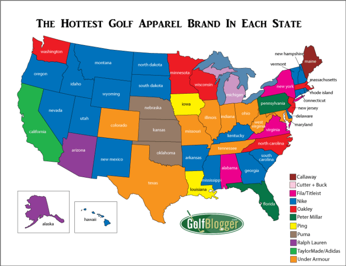The Hottest Golf Apparel Brand In Your State