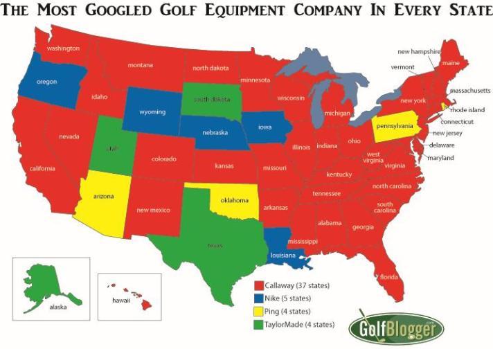 The Most Googled Golf Equipment Company