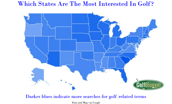 Which States Are Most Interested In Golf?
