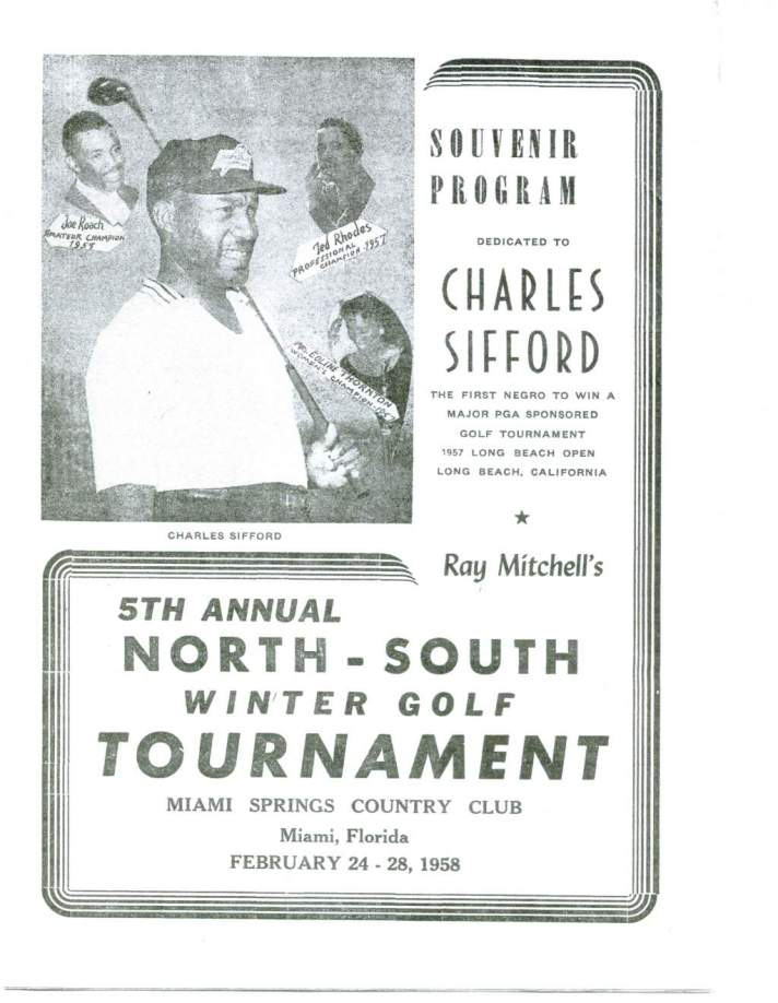 Ray Mitchell's North-South Winter Golf Tournament - Black History Month