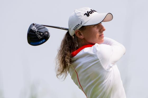 Symetra Tour golfer and Michigan native Laura Kueny At The Tullymore Classic