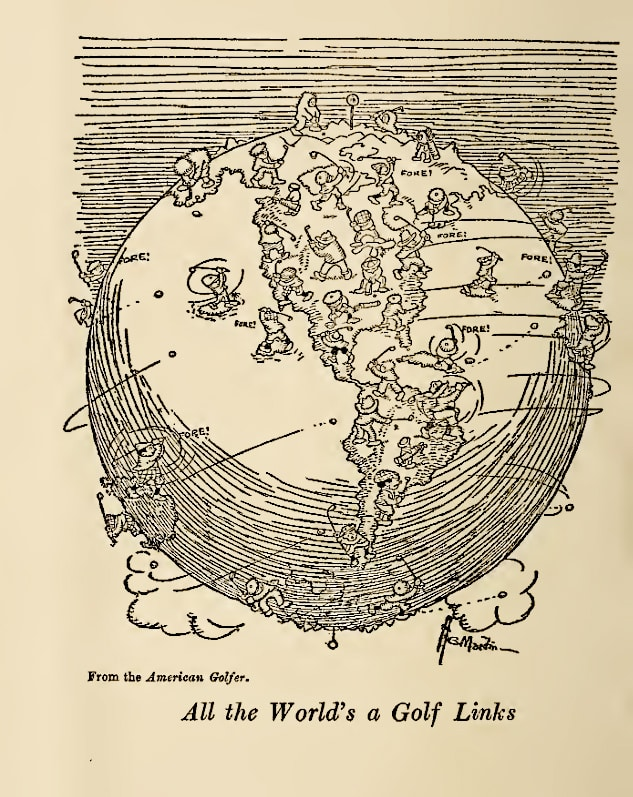 All The World's A Links - Golf Cartoon From 1913