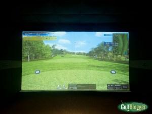 The eighth hole at Spyglass at X-Golf Ann Arbor