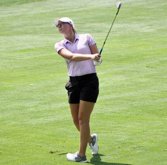 Katie Chipman in action Monday at Western G&CC