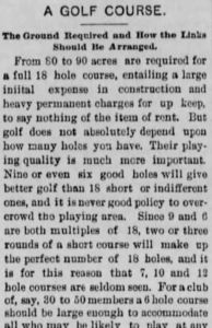 Classic Advice On Designing A Golf Course