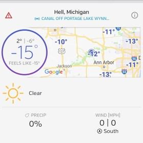Hell has frozen over.