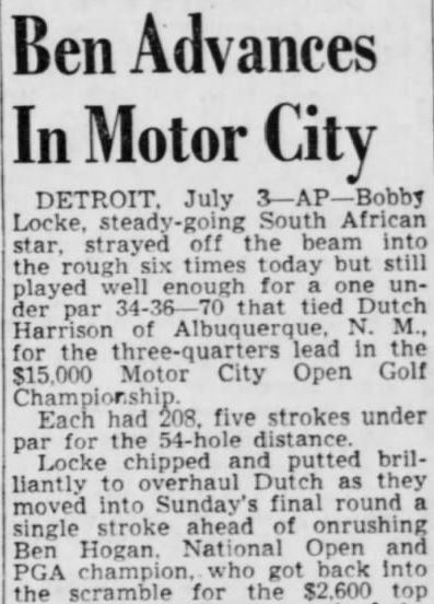 Detroit's First Pro Golf Tour Event - The Motor City Open