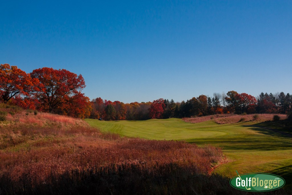 Fall color on the golf course: Calderone GC, Grass Lake, Michigan