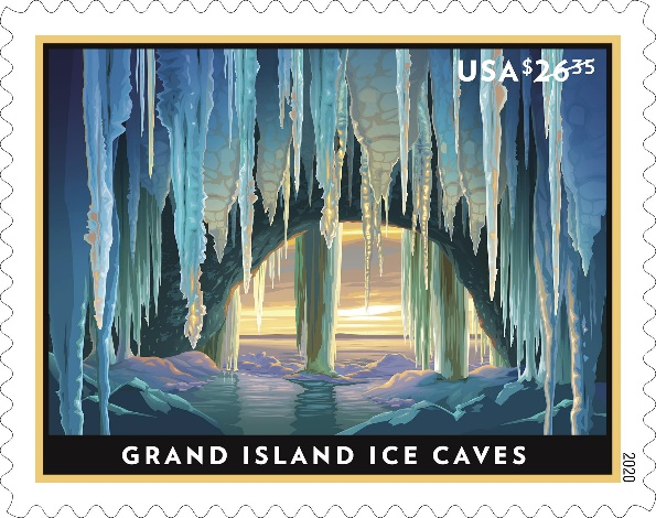 Michigan's Grand Island Ice Caves Featured On New Stamps