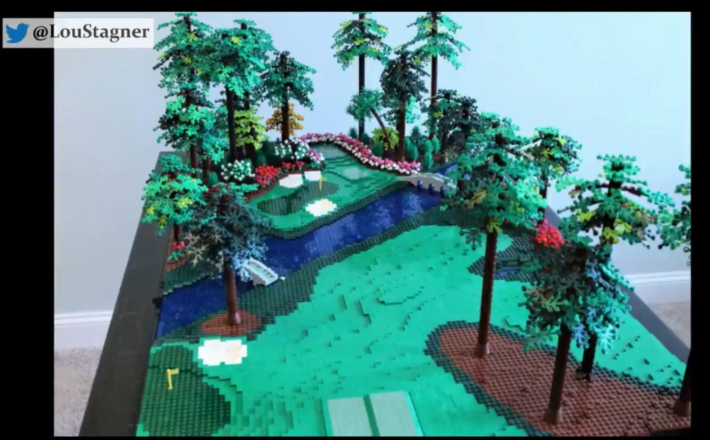 Lego Replica Of Augusta National's 12th Is Amazing