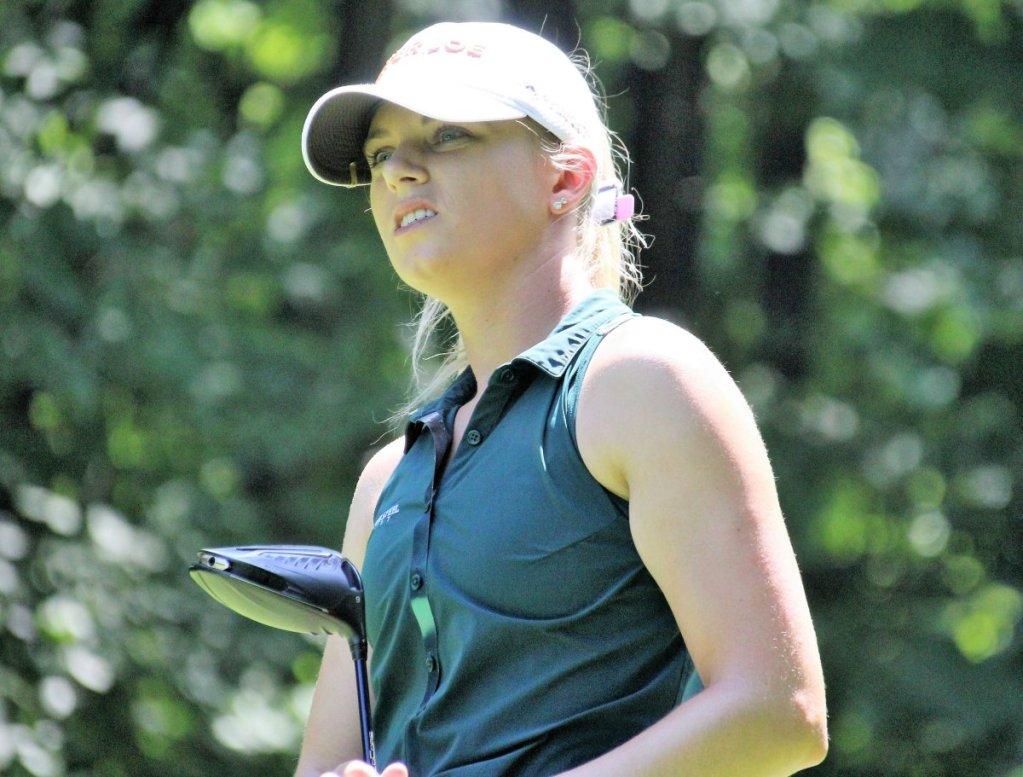 Eagle Putt Powers Former MSU Star Sarah Burnham in Michigan PGA Women's Open at Crystal Mountain