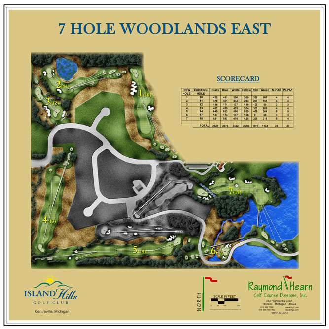 Island Hills Golf Course Review 7 hole plot