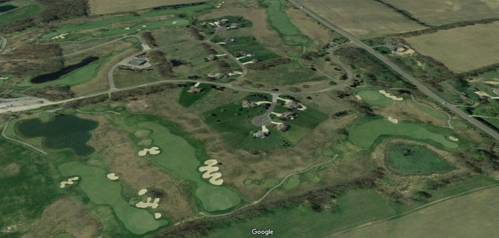 Island Hills Golf Course Review aerial shot