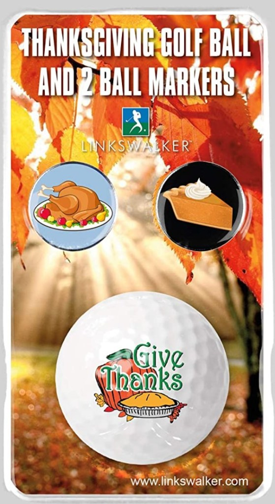 Thanksgiving Golf Ball and Ball Markers
