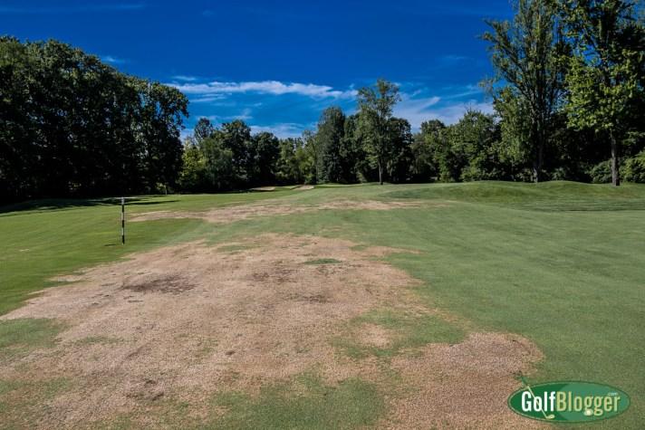 Cherry Creek Golf Course Review Fairway damage