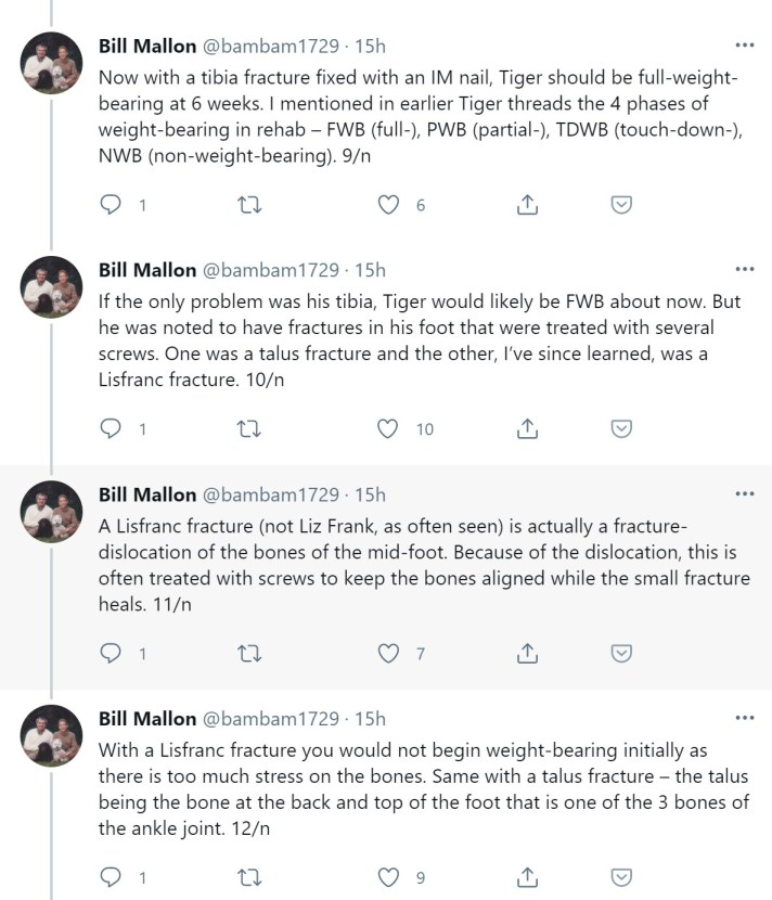 Will Tiger Appear At The Masters Dinner? A PGA TOUR Player Turned Orthopedic Surgeon Chimes In Twitter Thread
