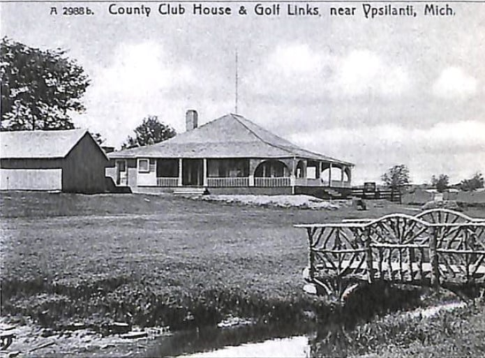 The founding of Washtenaw Golf Club. Clubhouse